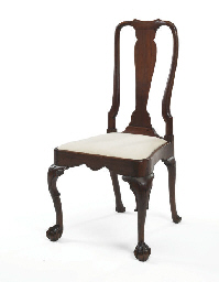 A Chippendale Carved Walnut Si