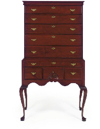 A Chippendale Cherrywood High