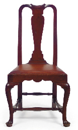 A QUEEN ANNE MAHOGANY SIDE CHA
