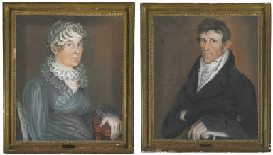 A PAIR OF PORTRAITS OF SARAH A