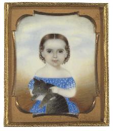 A Miniature Portrait  of a Gir