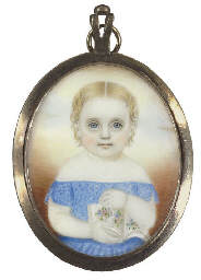 A Miniature Portrait of a Girl