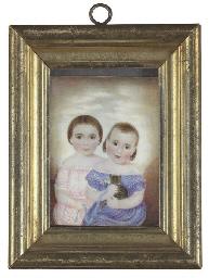 A Miniature Portrait of Two Gi