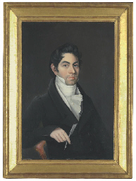 Portrait of a Man in a Black C