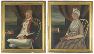 A Pair of Portraits of General