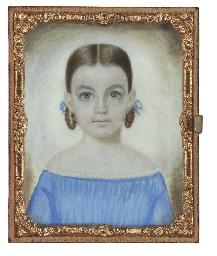 A Miniature Portrait of a Girl