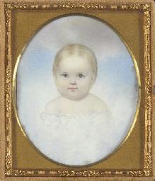 A Miniature Portrait of a Baby