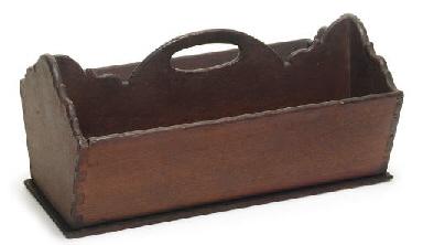 A CHERRYWOOD CUTLERY BOX