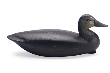A Hollow Carved Black Duck