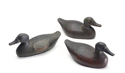 THREE DECOYS: A PAIR OF BLUEWI