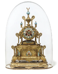 A French gilt-metal and enamel