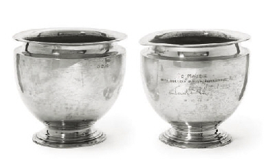 A PAIR OF EDWARDIAN SILVER FER