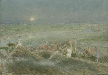 Romney Marsh from Rye Church T