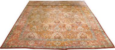 A unusual large English carpet