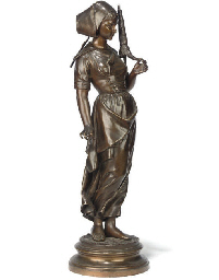 A FRENCH BRONZE FIGURE OF A MA