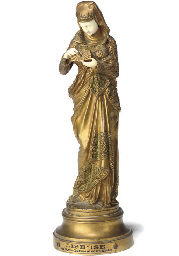 A FRENCH CARVED IVORY AND GILT