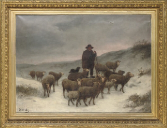A shepherd and his flock in th