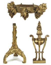 A WILLIAM IV GILT-WOOD AND GES