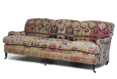 A STAINED BEECH SOFA