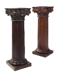 A PAIR OF VICTORIAN STAINED OA