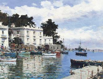 Moored fishing boats, Bacoli