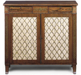 A REGENCY STYLE ROSEWOOD AND B