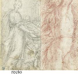 Saint Cecilia and a male nude