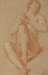 A seated academic nude with hi