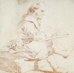 An artist sketching