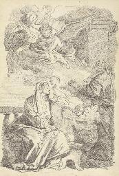Saint Anne teaching the young