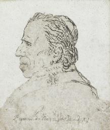 Pope Pius VII, in profile, bus