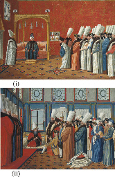 A Grand Vizier giving an audie