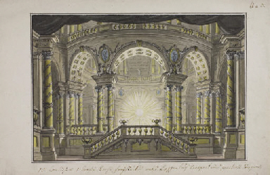 A stage design: The interior o