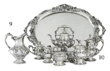 A SILVER PART DINNER SERVICE