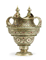 AN IMPORTANT SILVER-GILT AND E