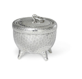 A SILVER COVERED JAR