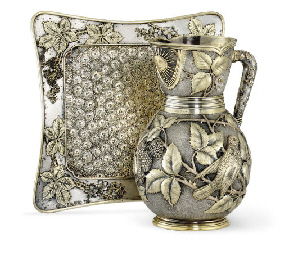 A PARCEL-GILT SILVER-PLATED WA