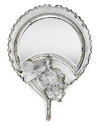 A SILVER-PLATED LOOKING-GLASS