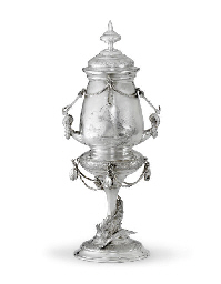 A SILVER-PLATED YACHTING TROPH