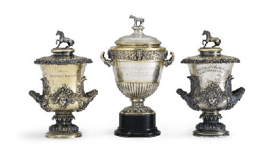 A GROUP OF THREE SILVER-GILT H