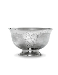 A RARE SILVER PUNCH BOWL