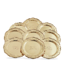 A GROUP OF EIGHT GOLD TROPHY P