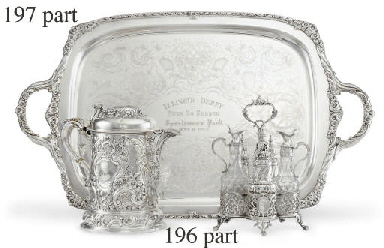 A SILVER-PLATED TROPHY TRAY: W