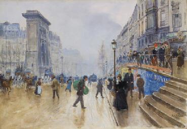 Le boulevard Saint-Denis à Par