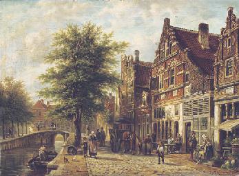 The Havendijk in the Dutch vil