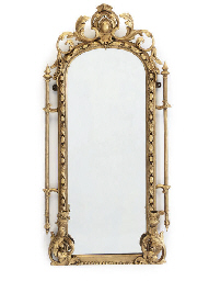 A PAIR OF GILT COMPOSITION MIR