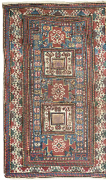 An antique Karachopf rug & Les