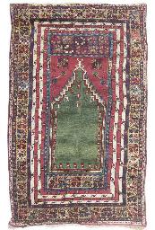 An antique Mujur prayer rug