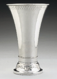 A LARGE SWEDISH SILVER BEAKER