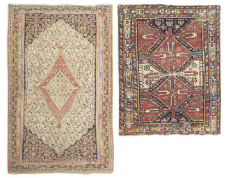 An antique Senneh rug & Shirva